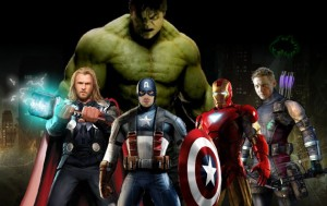 Avengers - Hulk, Thor, Iron Man, Kapitan Ameryka, Hawkeye, Czarna Wdowa