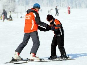 Jazda na nartach z instruktorem