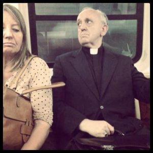 bergoglio w autobusie