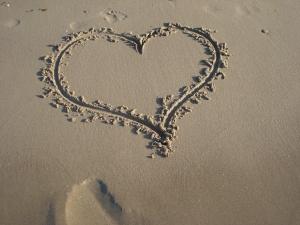 serce na piasku