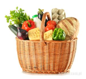 kosz z warzywami